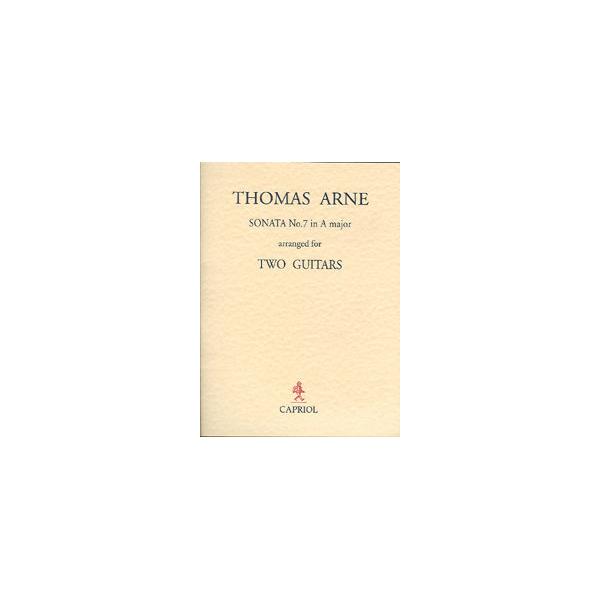 Thomas Arne – Sonata No. 7 in A Major – Arr. A Dodds