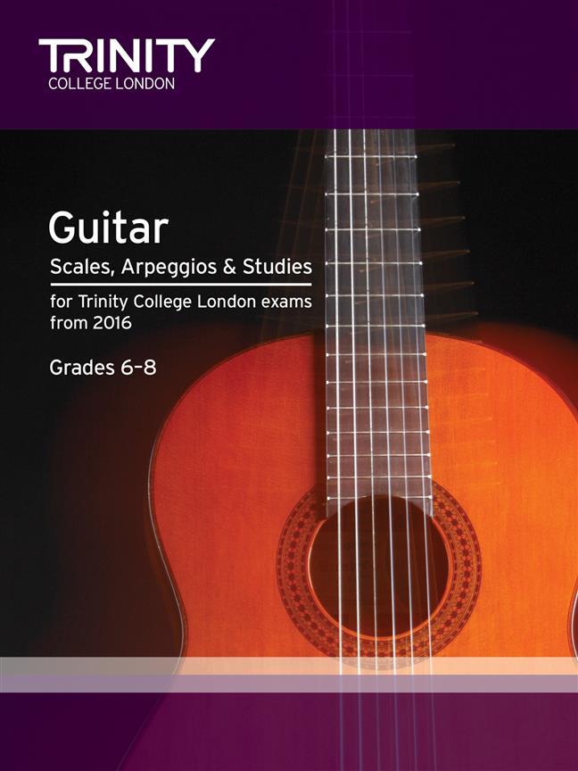 Trinity – Guitar Scales, Arpeggios and Studies- Grades 6-8